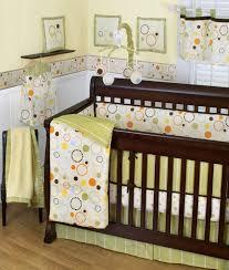 beautiful modern baby girl crib bedding ideas delightful circular pattern like a donut for lime