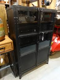 black metal cabinet with glass doors denver furniture