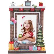 Light Up Fireplace Christmas Resin Picture Frame Ellisi Gifts