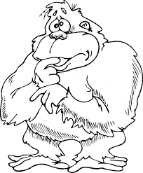 Small Picture Baboon coloring Free Animal coloring pages sheets Baboon