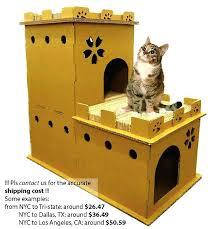 Diy cat playhouse Cardboard Cat Cat Furniture Diy Lux Castle Thick Gauge Cardboard Playhouse Modern Cat Furniture Cat Condo Cat Cave Cat Furniture Diy Maddyswebinfo Cat Furniture Diy Cat Condo Made Of Tables Maddyswebinfo