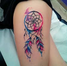 Simple Dream Catcher Tattoos Magnificent 32 Colorful Dream Catcher Tattoo That Will Be Uniquely Your Own