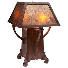 gustav stickley hammered copper hanging lantern with vent caps lined in umber slag glass complete with original hanging chain and ceiling cap re