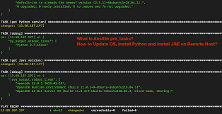 What Is Ansible Pre_tasks How To Update Os Install Python