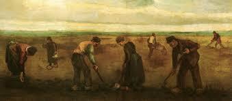 farmers planting potatoes 1884