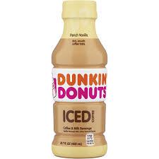 dunkin donuts french vanilla iced coffee bottle 13 7 fl oz