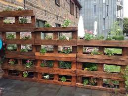 wood pallet ideas garden. my vertical pallet garden! like the stair-step heights for side of patio. wood ideas garden a