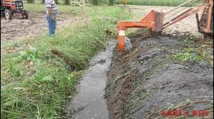 drainage ditch drainage ditch cleaning with a special youtube