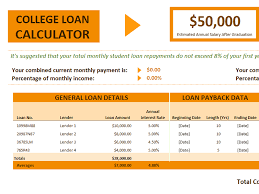 Free Excel Mortgage Calculator Download Excel College Loan Calculator Related Excel Templates For