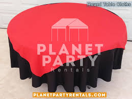 black round tablecloth with overlay 009