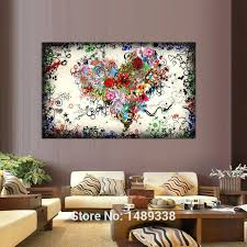 contemporary wall art canvas contemporary wall art canvas new arrived modern wall art heart flowers painting