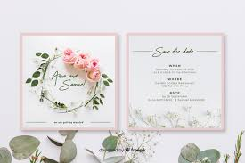 Save The Date Wedding Invitation Template Vector Free Download