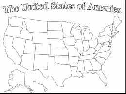 Map Of United States Coloring Page 9 12972