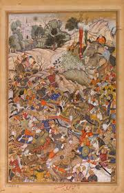 mughal painting under akbar the melbourne hamza nama and akbar  the defeat of hemu depicts the battle of panipat which occurred on 5 1556 the outcome of which was critical in akbar s struggle to establish his