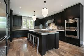 kitchens with black cabinets. Black Kitchen Cabinets And Island Kitchens With R