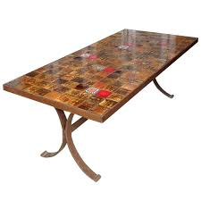 tile dining table french dining table with ceramic tiled top 1 rectangular tile patio dining table