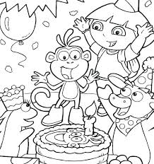 Dora Pictures To Color Coloring Pages Dora Mermaid Pictures To Color