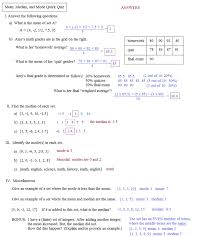 Math : Mean Median Mode Worksheet Mean With Median Also Mode And ...