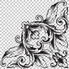 Decorative Design Enchanting Isolate Vintage Baroque Ornament Retro Pattern Antique Style