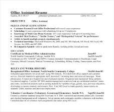 Sample Office Assistant Resume Office Assistant Resume Sample Topgamers Xyz