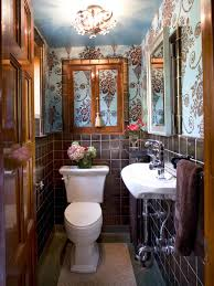 dwell bathroom ideas modern bathroom design ideas pictures tips from hgtv traditional powder room with brown and blue wallpaper