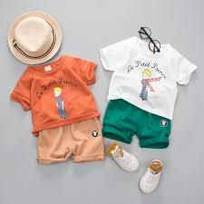 2019 baby girls boy clothing sets brand le petit prince summer kids clothes sets t shirt pants suit clothing set newborn sport suits from superbest11