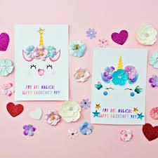 Unicorn Valentine Cards