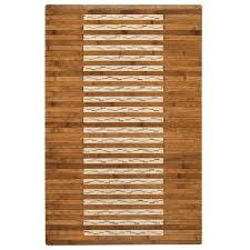 bamboo walnut kitchen and bath mat