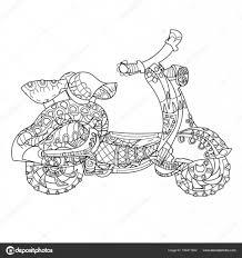 Motor Scooter Doodle Stockvector Yazzik 156471602