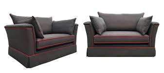 madison love seat texas plain red contrast piping