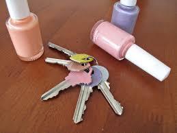 ... Colour-code your keys with nail polish