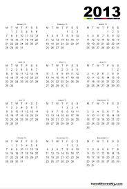 printable year calendar 2013 12 month calendar 2013 2013 calendar printable asafonggecco