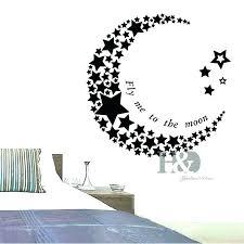 wall arts moon wall art stars crescent and fresh decoration stickers sun mo moon