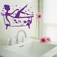 bathroom art decal bath time removable vinyl wall sticker shower tile wall decal on purple bathtub wall art with amazon bathroom art decal bath time removable vinyl wall