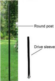Round Deer Fence Posts with Drive Sleeves McGregor Fence Catalog