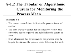 Cusum Control Chart Ppt Introduction To Statistical Quality Control 4th Edition