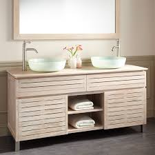 Teak Vanity Bathroom 60 Caldwell Teak Double Vessel Sink Vanity Whitewash Teak