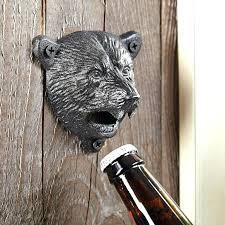 outdoor wall mounted bottle opener black bear wall mounted bottle opener outdoor wall mounted bottle opener with cap catcher