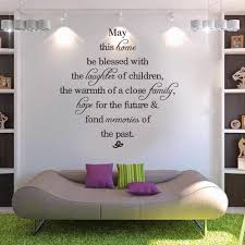 Wall Writing Decor May This Home Be Blessed Vinyl Wall Decals Quotes Sayings Words