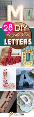 diy project ideas with letters