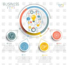 Infographic Template With 3d Circles Business Label Stock Vector Image