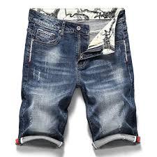 <b>Summer Men's Stretch</b> Short Jeans Fashion Casual Slim Fit High ...