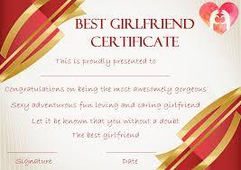 Best Certificate Templates Surprise Your Girlfriend Using These 16 Best Girlfriend Certificate