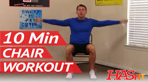 Chair Gym Exercise Chart 10 Min Chair Workout For Seniors Hasfit Seated Exercise