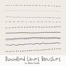 How to create a line drawing. Doodled Lines Brushes Graphics Brushes Luvly Gimp Brushes Simple Doodles Doodles