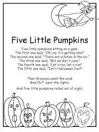 five little pumpkins rhyme coloring book samhain