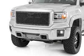 gmc sierra 2014 white. mesh replacement grille for 20142015 gmc sierra 1500 pickup 70188 rough country suspension systems gmc 2014 white