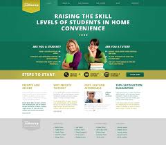 College Templates Website Template 45716 Tutoring Private Teachers Custom