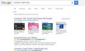 google compare credit cards