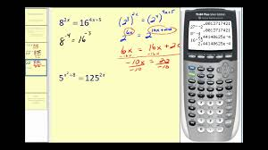 solving exponential equations part 1 of 2
